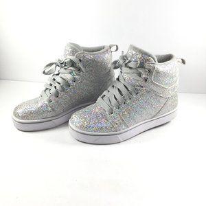 Heelys Kids Uptown Silver/Glitter Sneaker Size 2